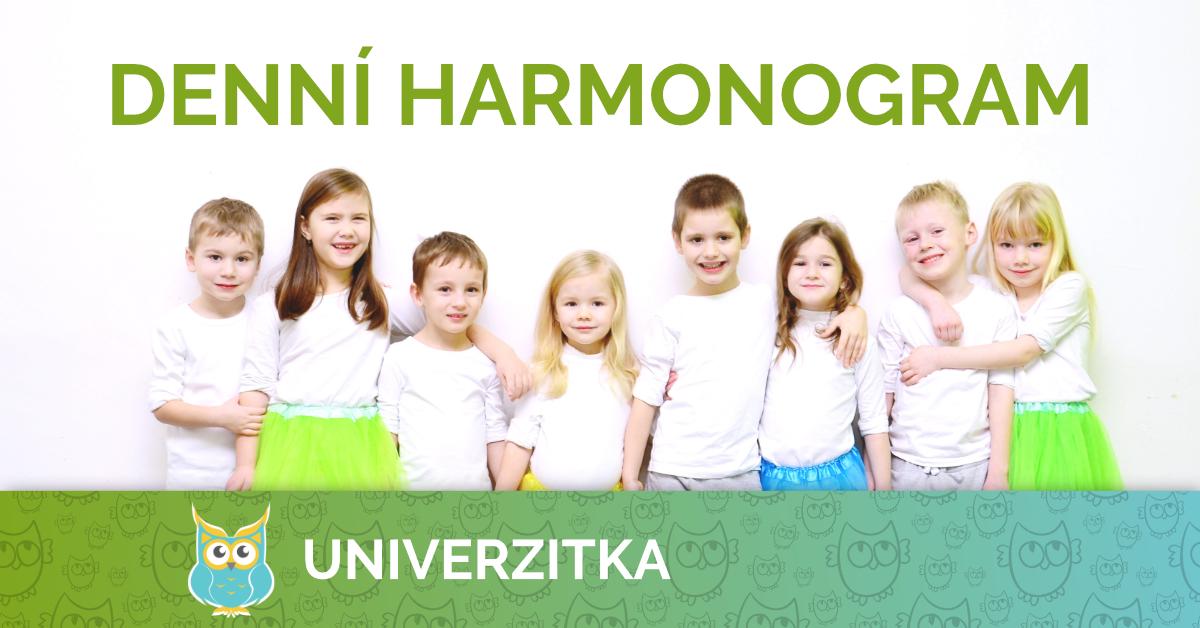 Univerzitka Brno - mateřská škola - denní harmonogram