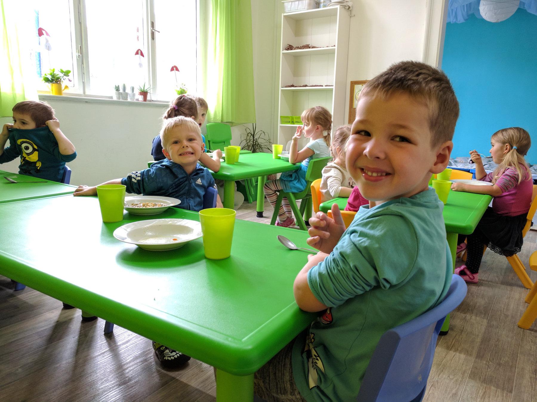Univerzitka - materska skolka Brno - obed
