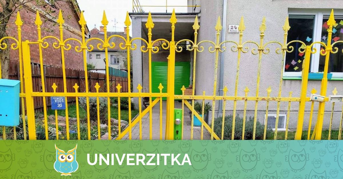 Univerzitka - Mateřská škola - Brno - Březen 2020