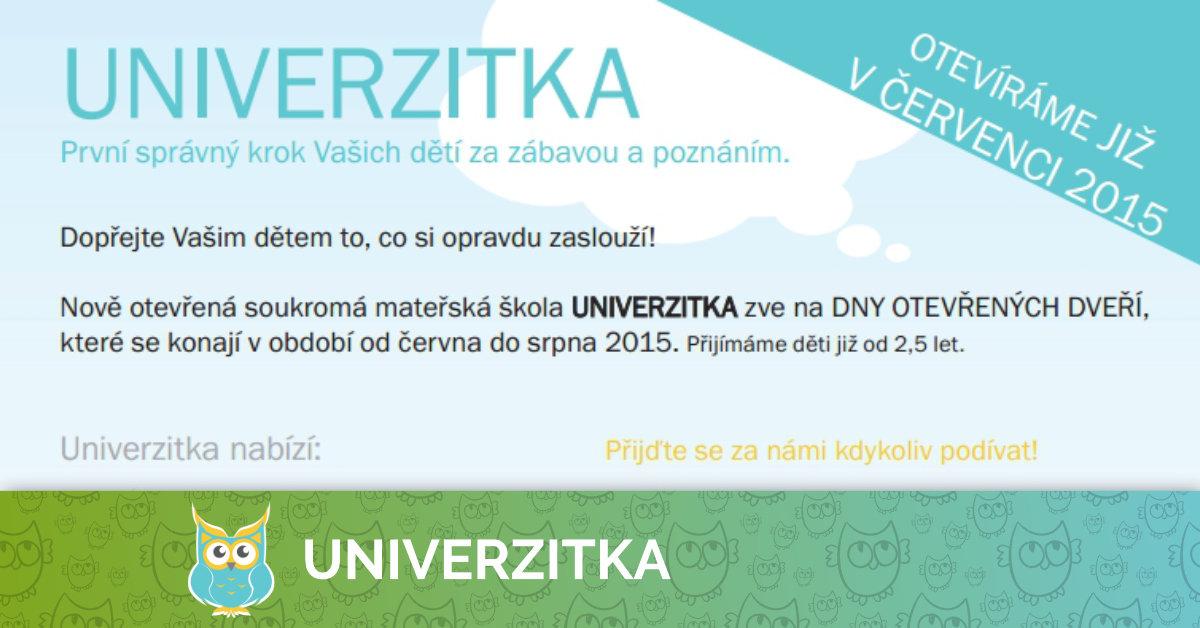 Dny otevřených dveří v Univerzitce