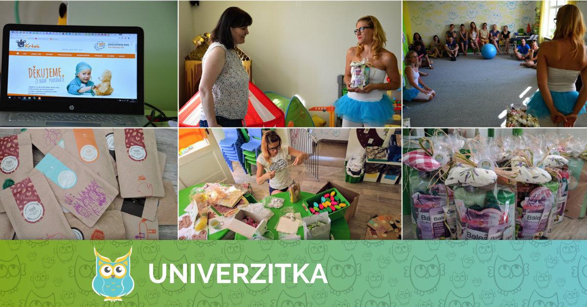 Předání dárků nadaci Krtek