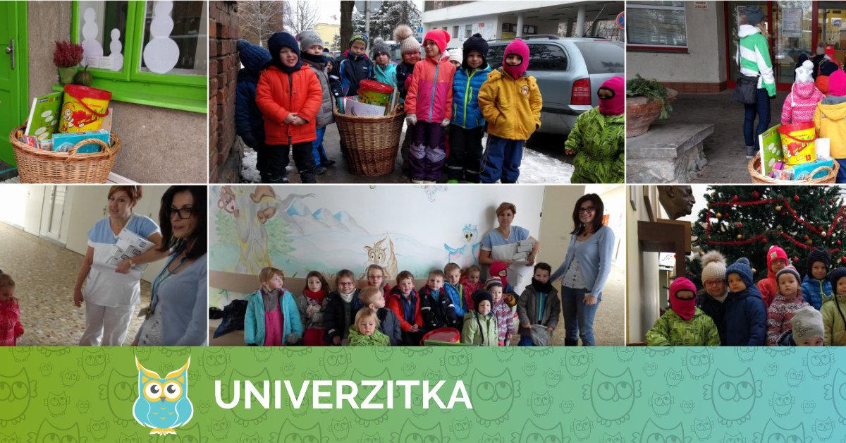 Předání dárků pro nadaci Krtek
