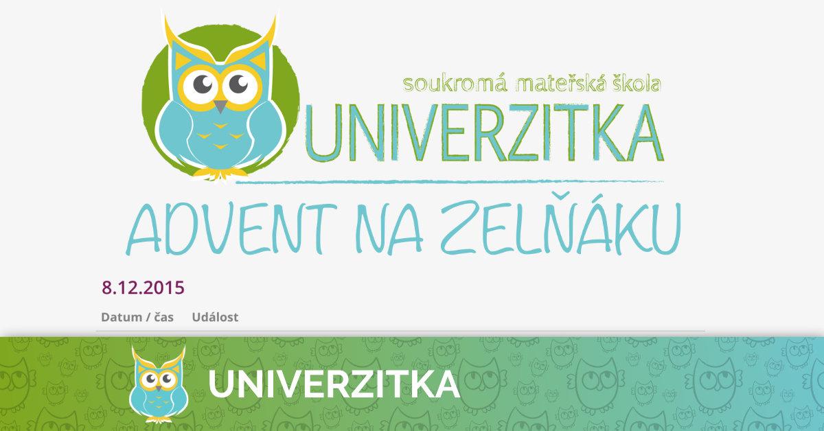 Vystoupení Univerzitky na adventním Zelňáku